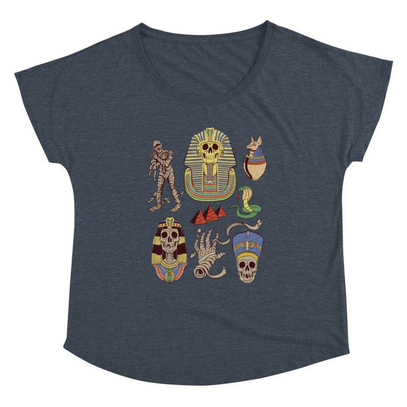 Mummy Death Pattern Women's Dolman Scoop Neck by funnyfuse's Artist Shop