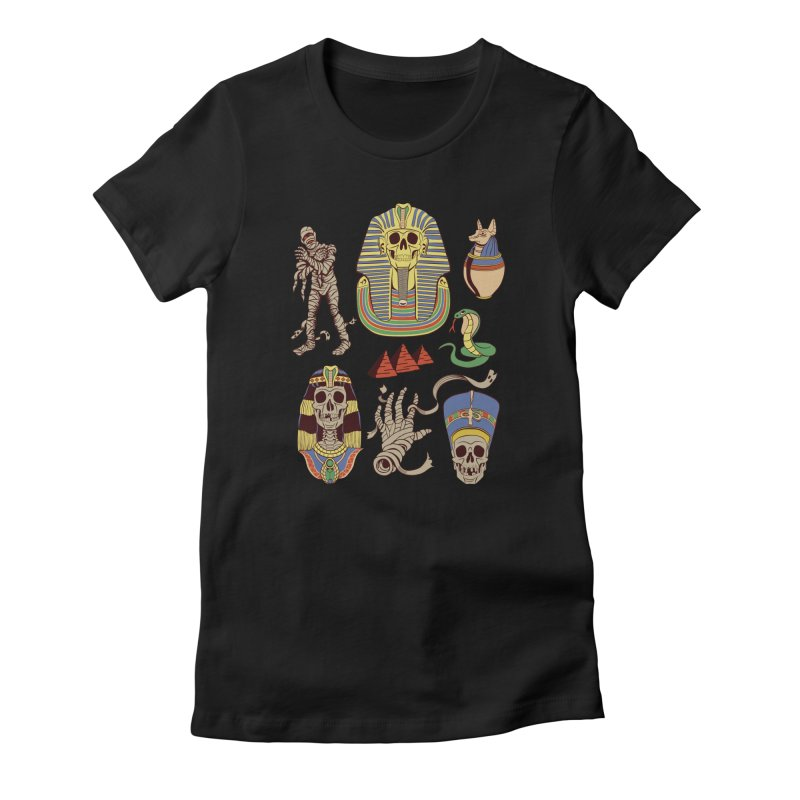 Mummy Death Pattern Women's Fitted T-Shirt by funnyfuse's Artist Shop