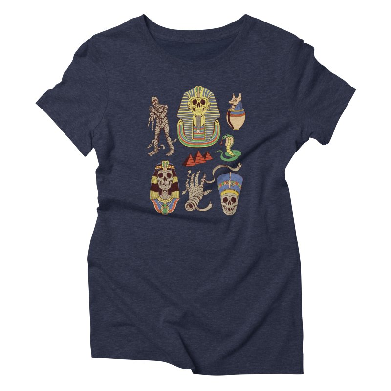 Mummy Death Pattern Women's Triblend T-Shirt by funnyfuse's Artist Shop