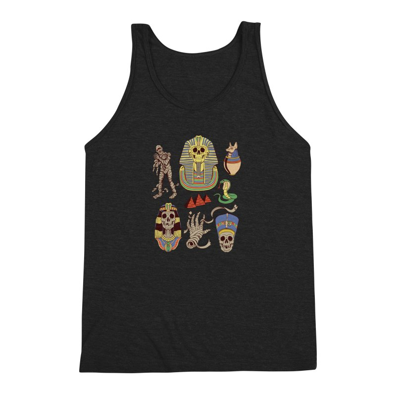 Mummy Death Pattern Men's Triblend Tank by funnyfuse's Artist Shop