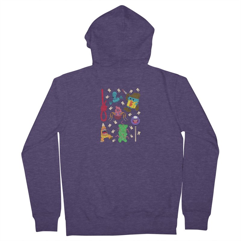 Killer Candy Men's French Terry Zip-Up Hoody by funnyfuse's Artist Shop