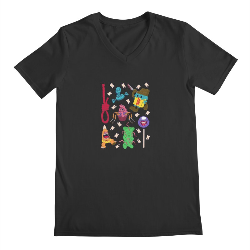 Killer Candy Men's Regular V-Neck by funnyfuse's Artist Shop
