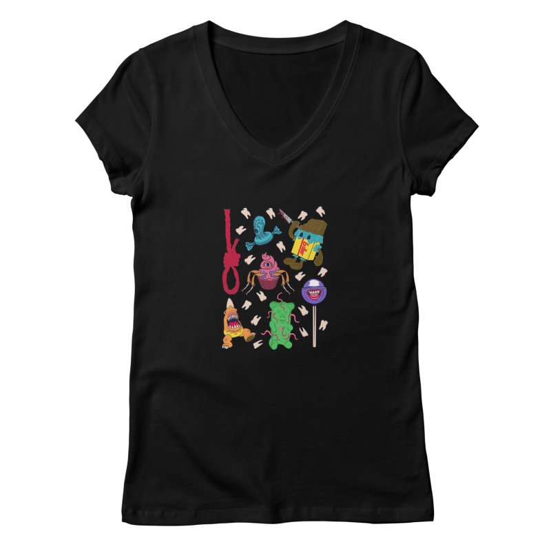 Killer Candy Women's V-Neck by funnyfuse's Artist Shop