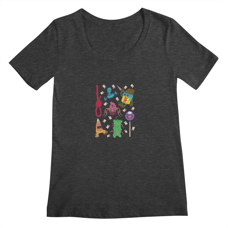 Killer Candy Women's Scoopneck by funnyfuse's Artist Shop