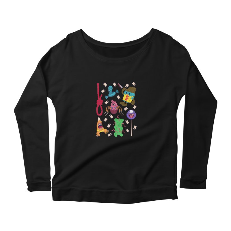Killer Candy Women's Scoop Neck Longsleeve T-Shirt by funnyfuse's Artist Shop
