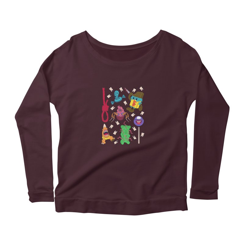 Killer Candy Women's Longsleeve Scoopneck  by funnyfuse's Artist Shop
