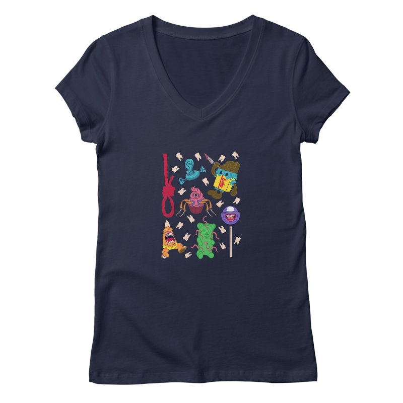 Killer Candy Women's Regular V-Neck by funnyfuse's Artist Shop