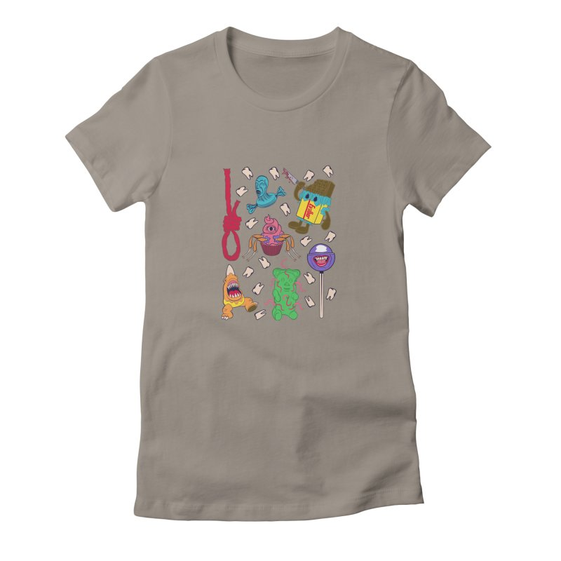 Killer Candy Women's Fitted T-Shirt by funnyfuse's Artist Shop