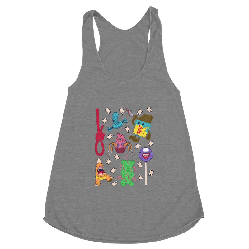 Killer Candy Women's Racerback Triblend Tank by funnyfuse's Artist Shop