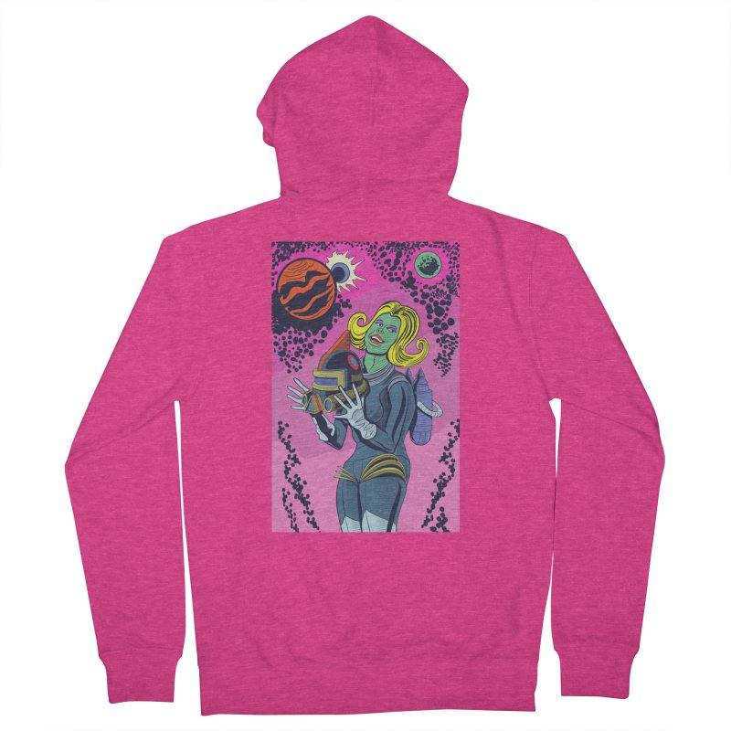 Space Girl Women's Zip-Up Hoody by funnyfuse's Artist Shop