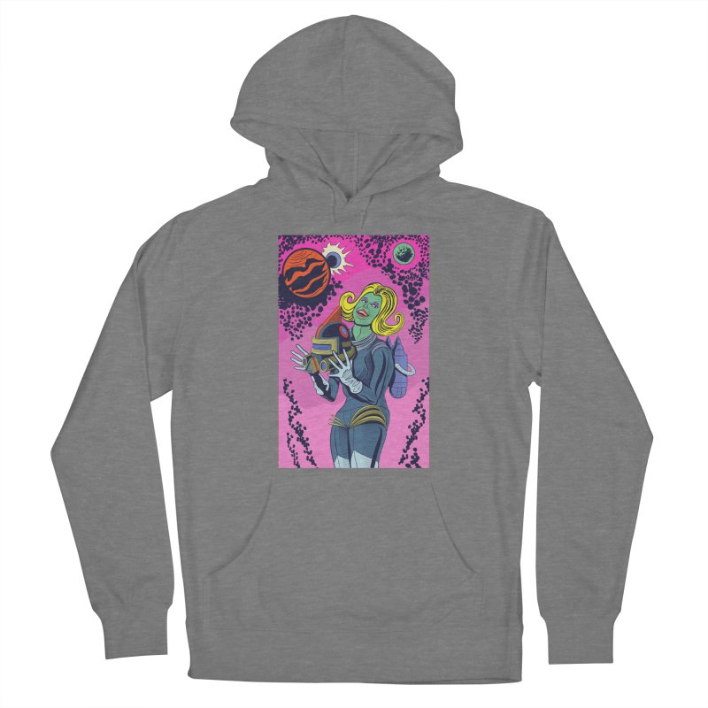 Space Girl Women's Pullover Hoody by funnyfuse's Artist Shop