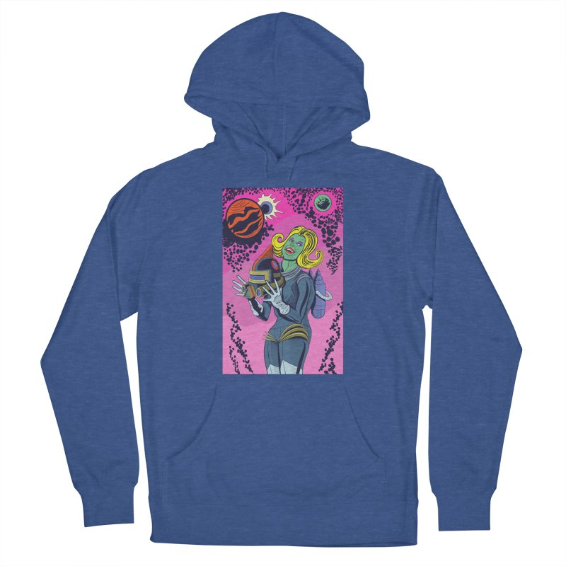 Space Girl Men's French Terry Pullover Hoody by funnyfuse's Artist Shop