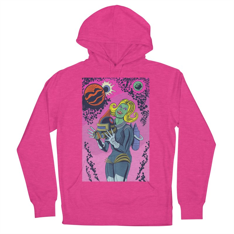 Space Girl Men's Pullover Hoody by funnyfuse's Artist Shop