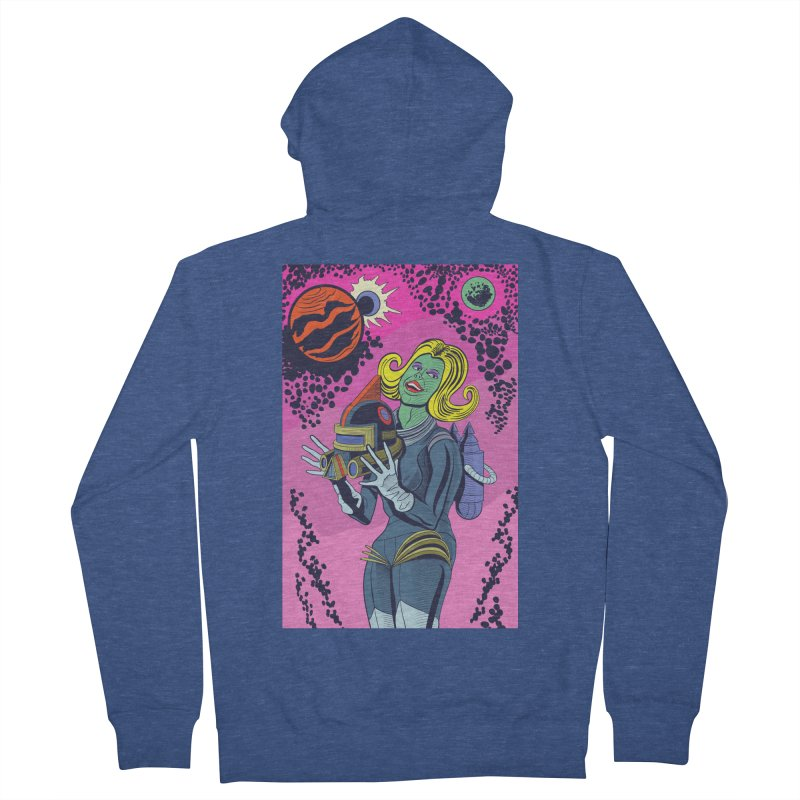 Space Girl Men's Zip-Up Hoody by funnyfuse's Artist Shop
