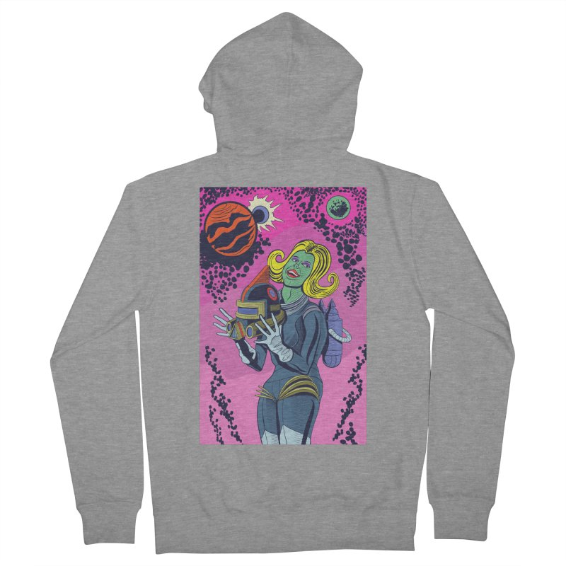 Space Girl Men's French Terry Zip-Up Hoody by funnyfuse's Artist Shop