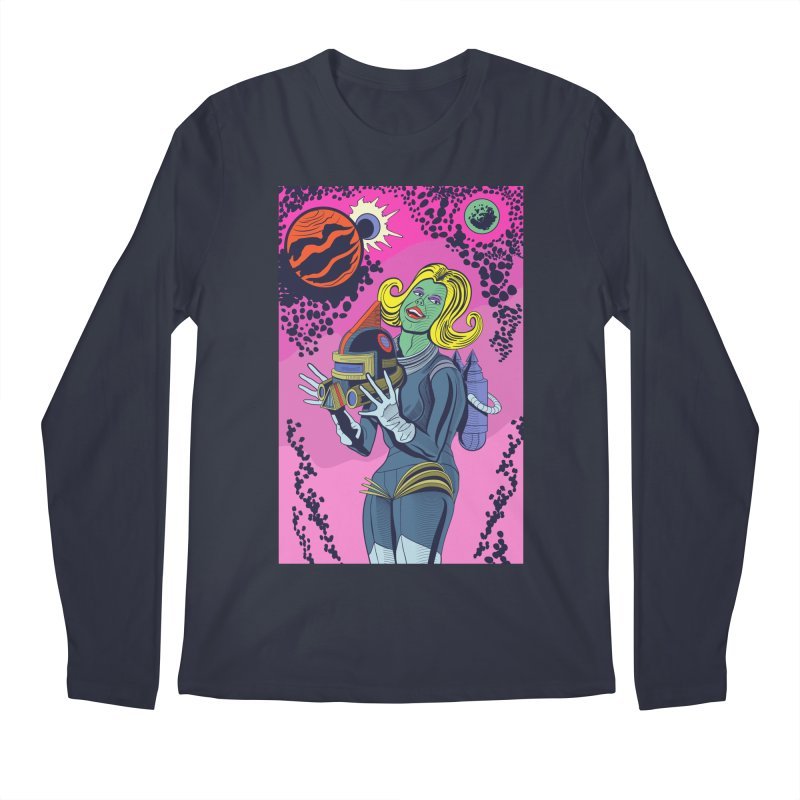 Space Girl Men's Longsleeve T-Shirt by funnyfuse's Artist Shop