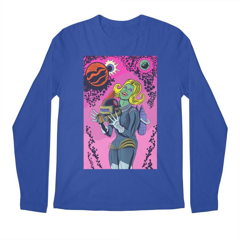 Space Girl Men's Regular Longsleeve T-Shirt by funnyfuse's Artist Shop