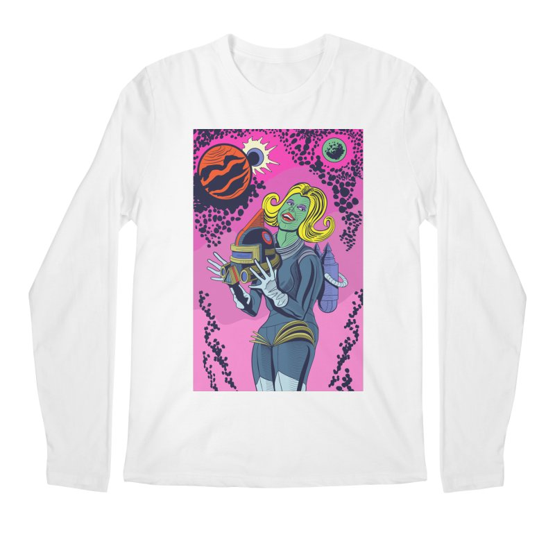 Space Girl Men's Longsleeve T-Shirt by funnyfuse's Artist Shop