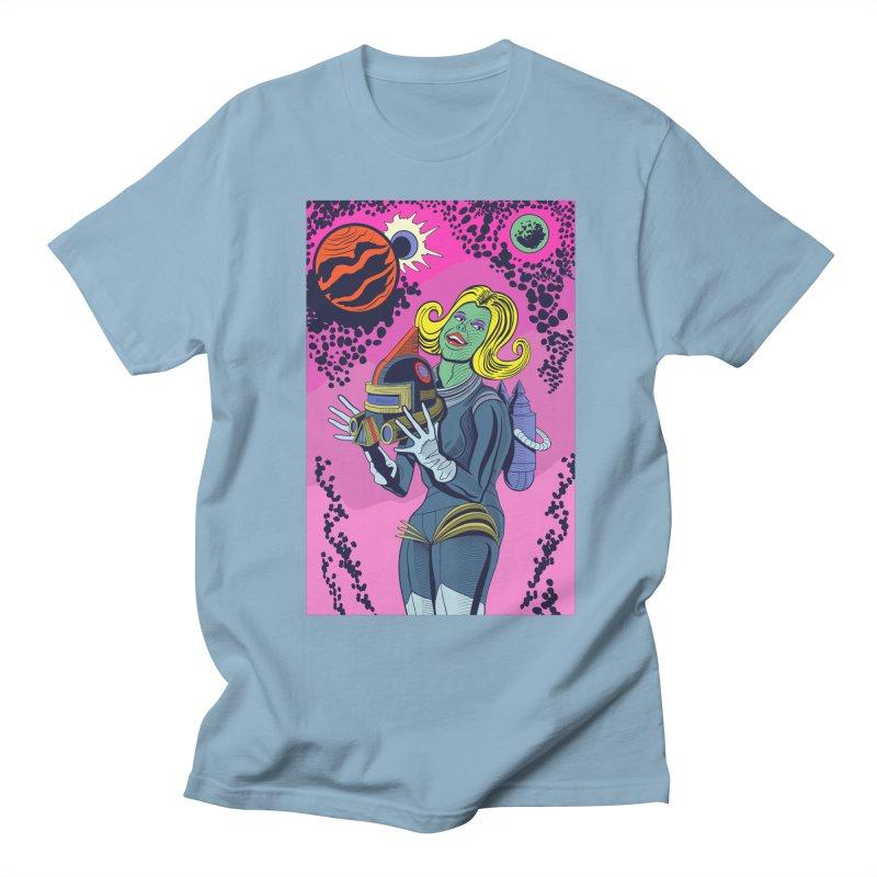 Space Girl Men's Regular T-Shirt by funnyfuse's Artist Shop