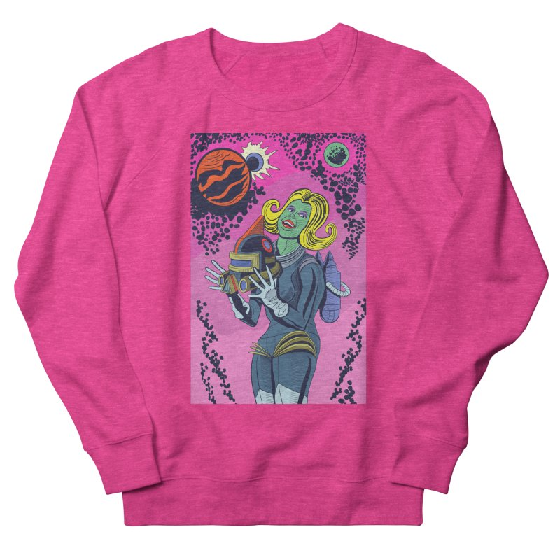 Space Girl Women's French Terry Sweatshirt by funnyfuse's Artist Shop