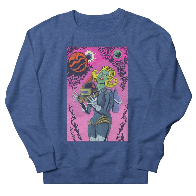 Space Girl Men's French Terry Sweatshirt by funnyfuse's Artist Shop
