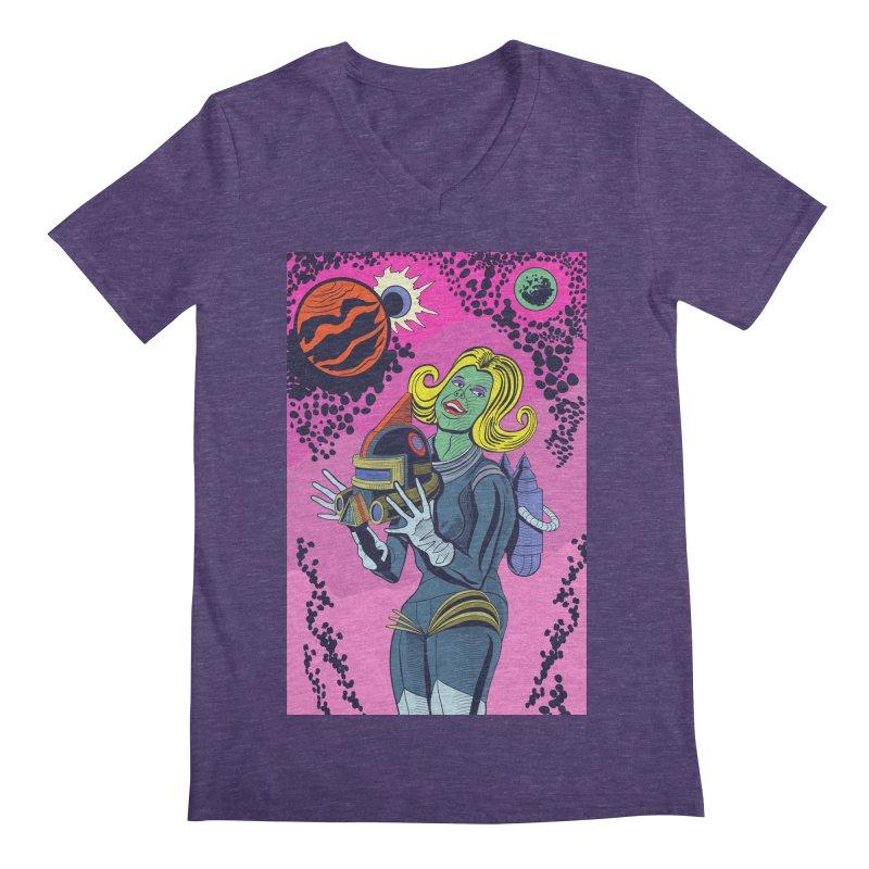 Space Girl Men's Regular V-Neck by funnyfuse's Artist Shop