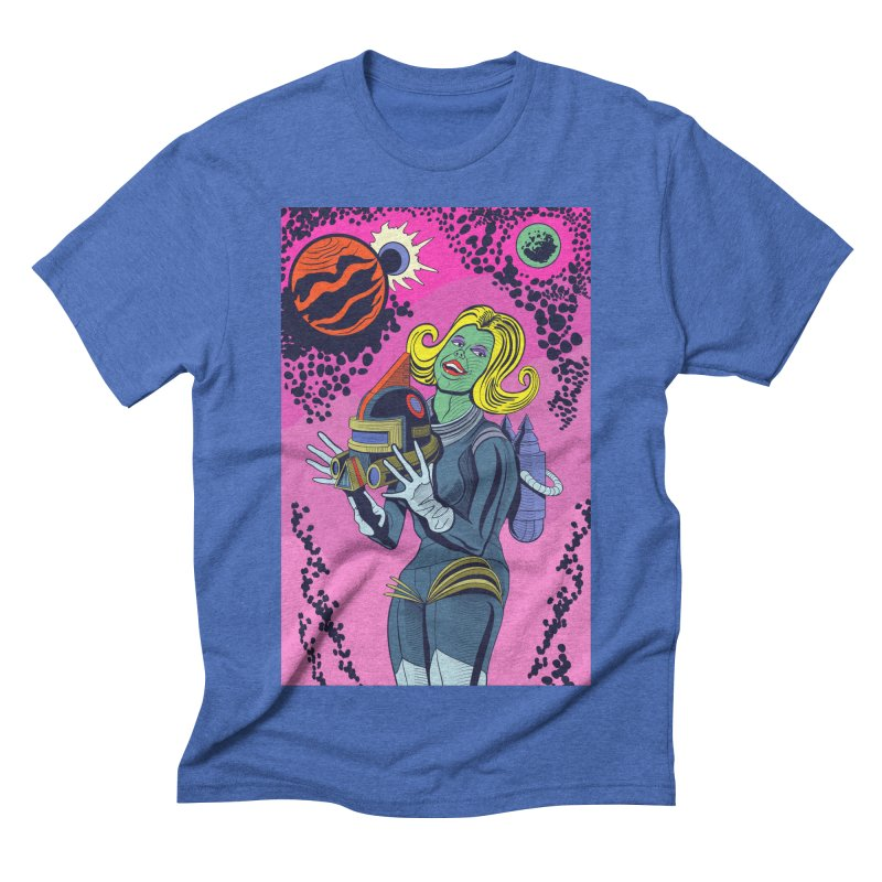 Space Girl Men's Triblend T-shirt by funnyfuse's Artist Shop