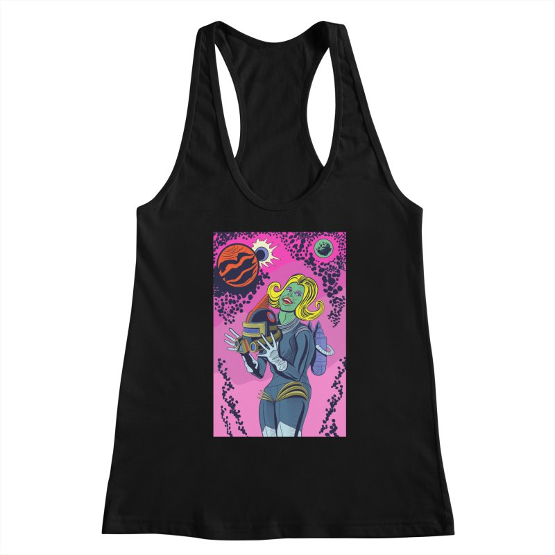 Space Girl Women's Tank by funnyfuse's Artist Shop
