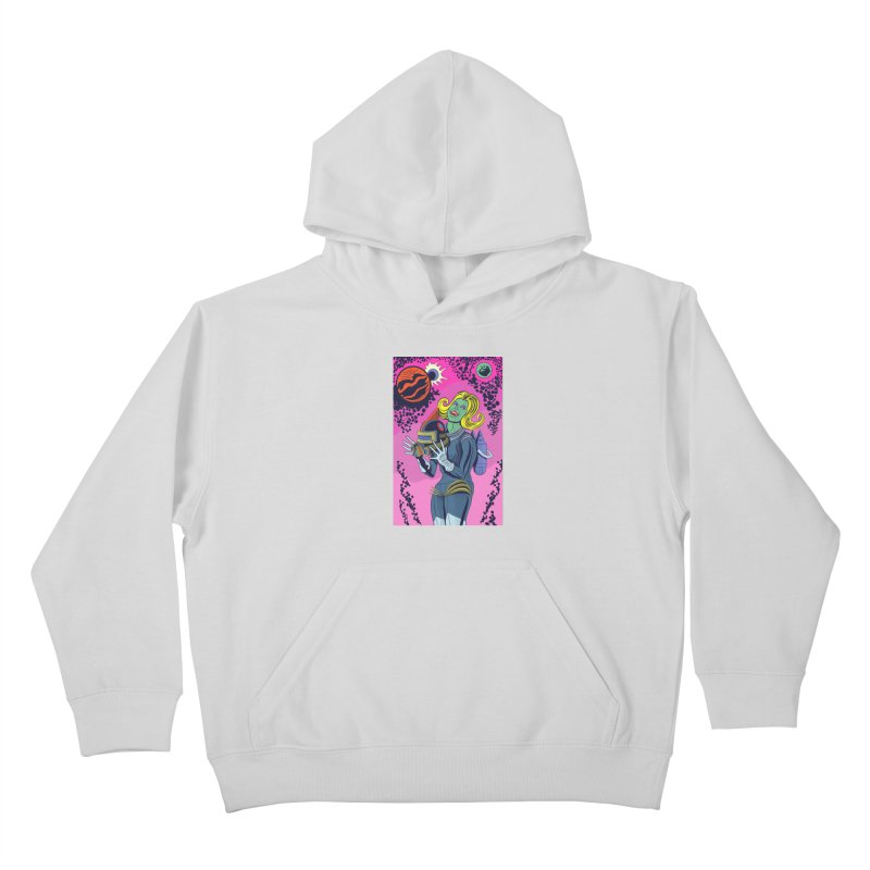 Space Girl Kids Pullover Hoody by funnyfuse's Artist Shop