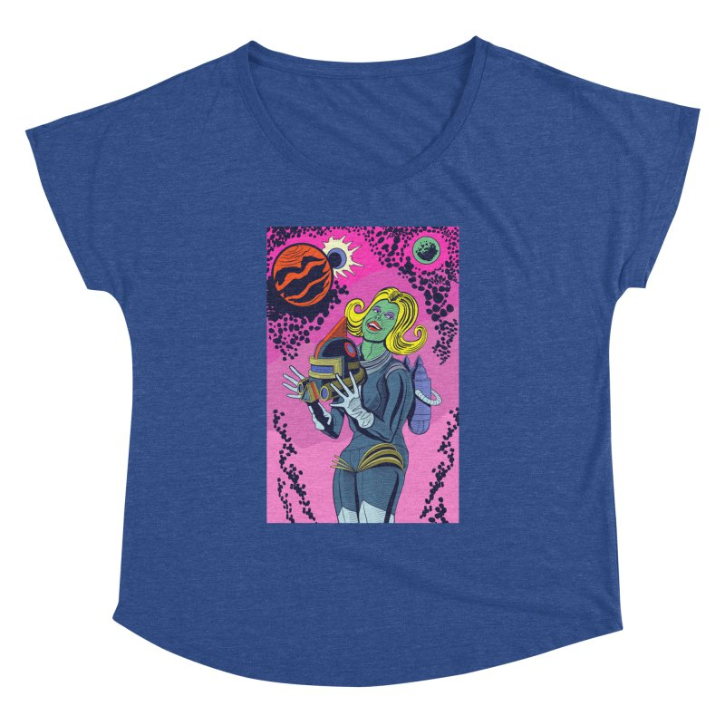 Space Girl Women's Dolman by funnyfuse's Artist Shop