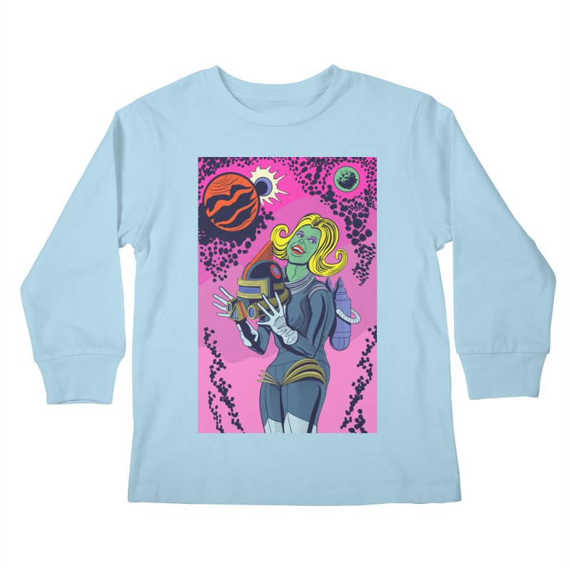 Space Girl Kids Longsleeve T-Shirt by funnyfuse's Artist Shop