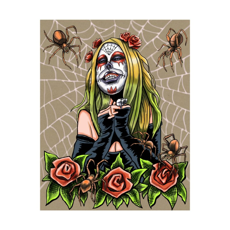 Spider Sugar Skull Women's T-Shirt by funnyfuse's Artist Shop