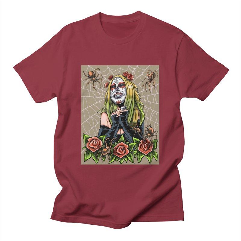 Spider Sugar Skull Men's T-Shirt by funnyfuse's Artist Shop