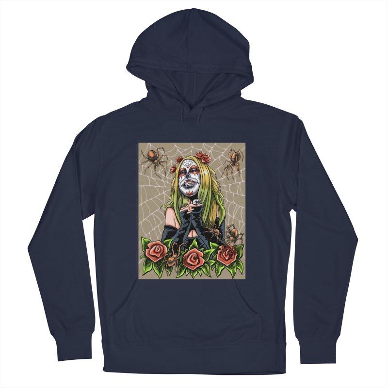 Spider Sugar Skull Men's Pullover Hoody by funnyfuse's Artist Shop