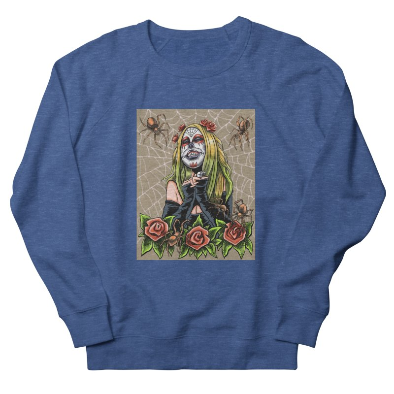 Spider Sugar Skull Men's Sweatshirt by funnyfuse's Artist Shop