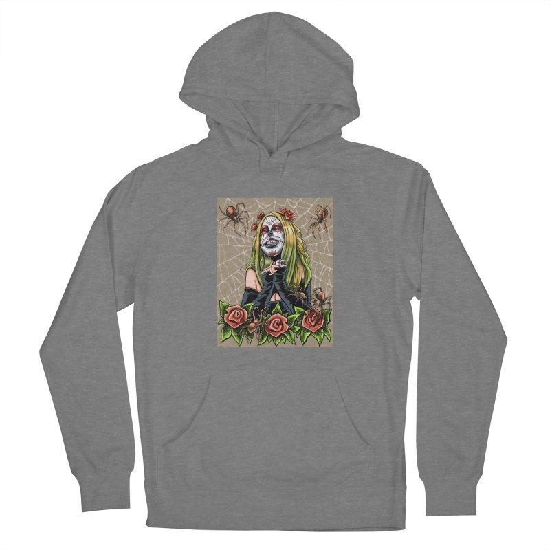 Spider Sugar Skull Women's Pullover Hoody by funnyfuse's Artist Shop