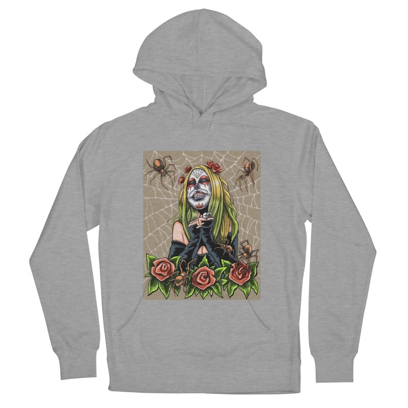 Spider Sugar Skull Men's Pullover Hoody by funnyfuse's Artist Shop