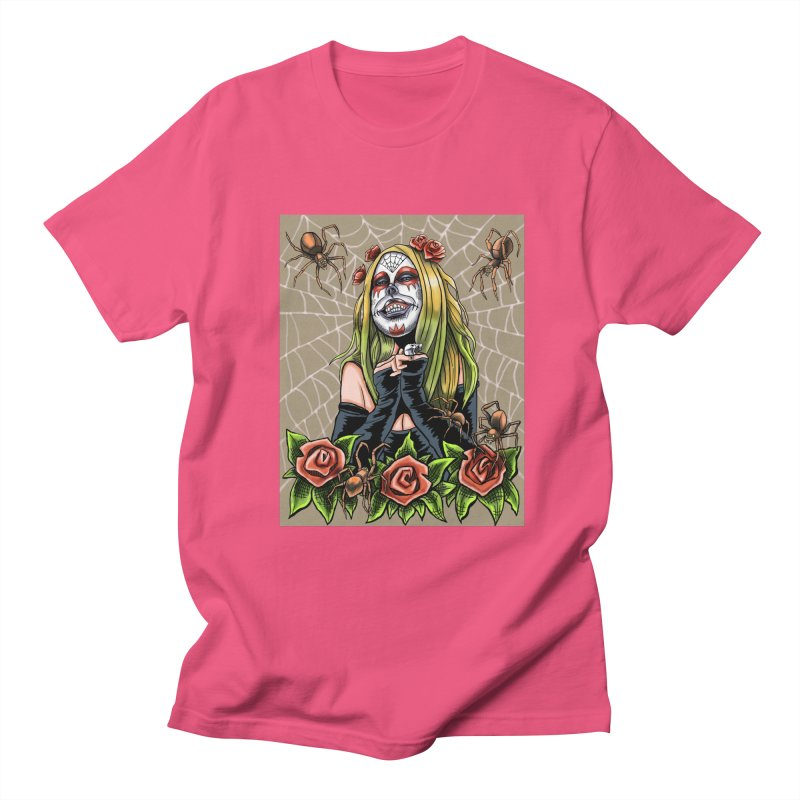 Spider Sugar Skull Men's T-shirt by funnyfuse's Artist Shop