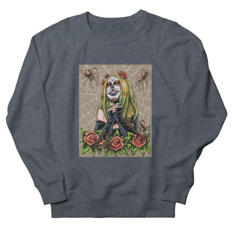Spider Sugar Skull Women's Sweatshirt by funnyfuse's Artist Shop