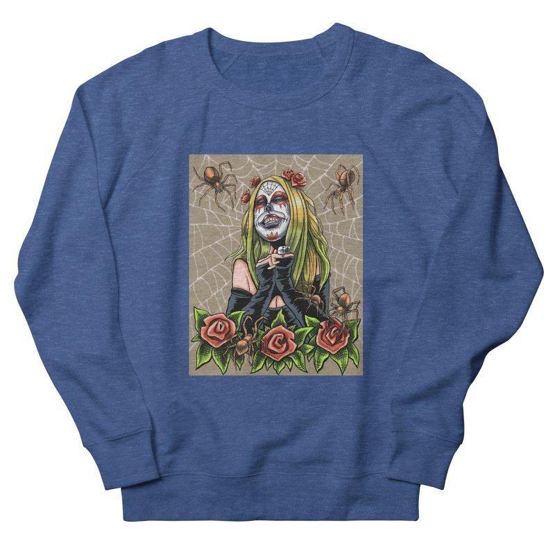 Spider Sugar Skull Men's Sweatshirt by funnyfuse's Artist Shop