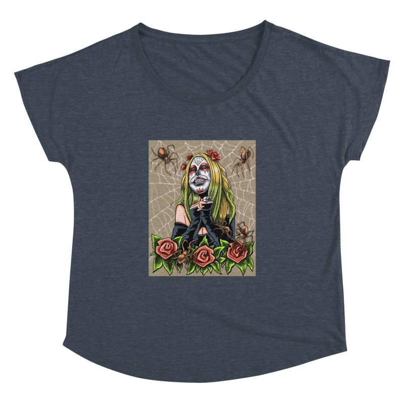Spider Sugar Skull Women's Dolman by funnyfuse's Artist Shop