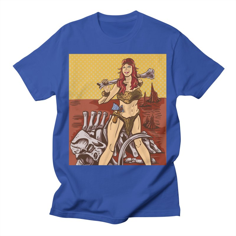 Cave Girl Pinup Men's T-Shirt by funnyfuse's Artist Shop