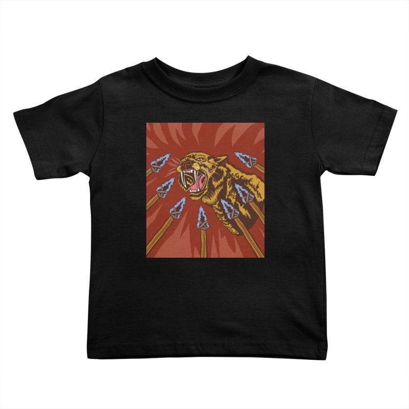 Saber-tooth Tiger Kids Toddler T-Shirt by funnyfuse's Artist Shop