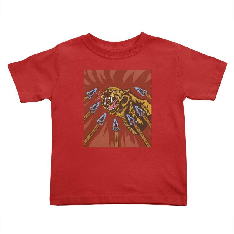 Saber-tooth Tiger Kids Toddler T-Shirt by funnyfuse's Artist Shop