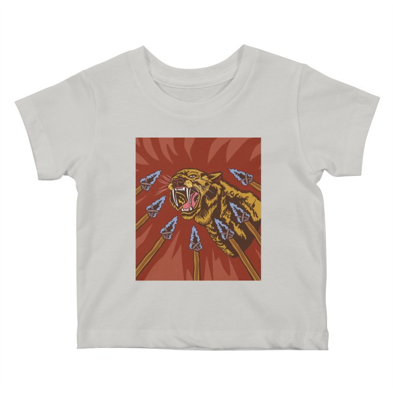 Saber-tooth Tiger Kids Baby T-Shirt by funnyfuse's Artist Shop