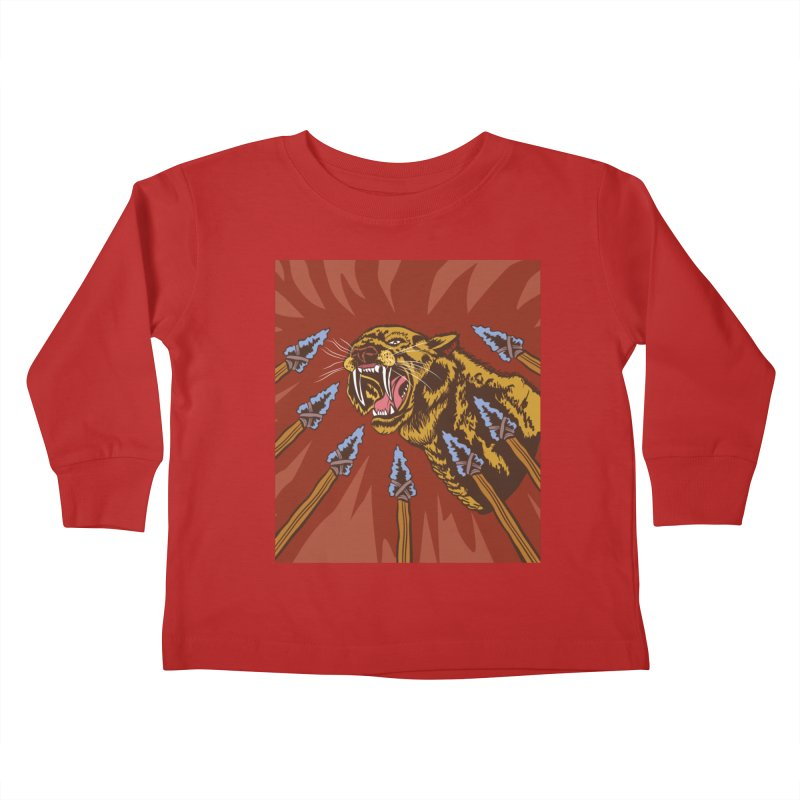 Saber-tooth Tiger Kids Toddler Longsleeve T-Shirt by funnyfuse's Artist Shop