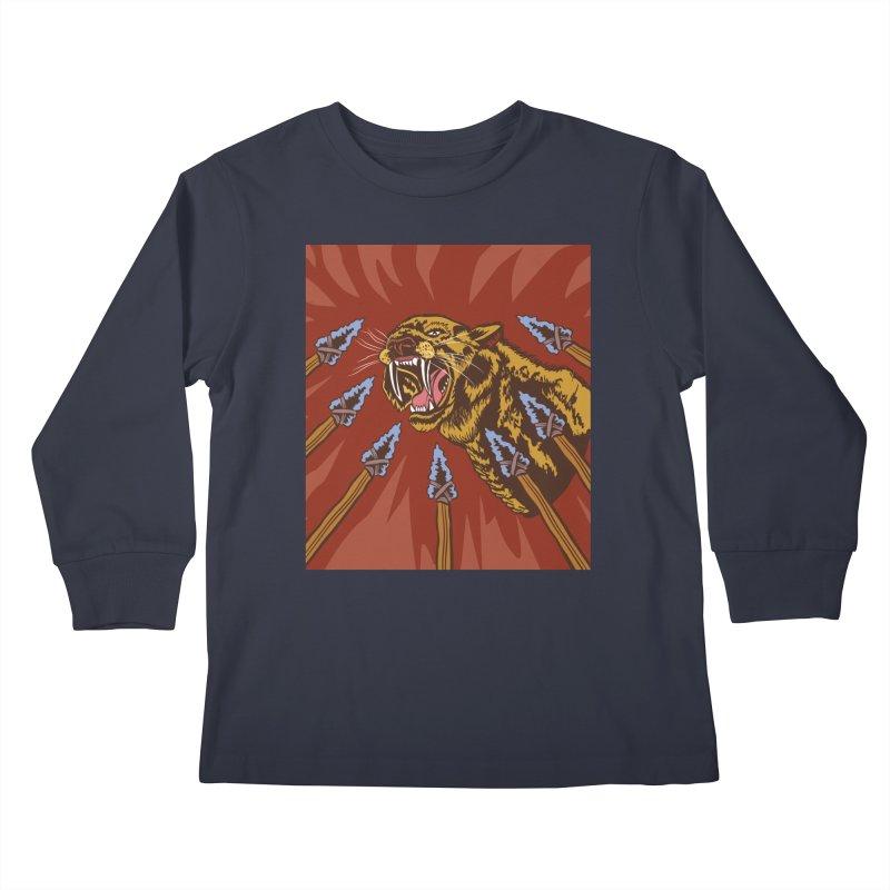 Saber-tooth Tiger Kids Longsleeve T-Shirt by funnyfuse's Artist Shop
