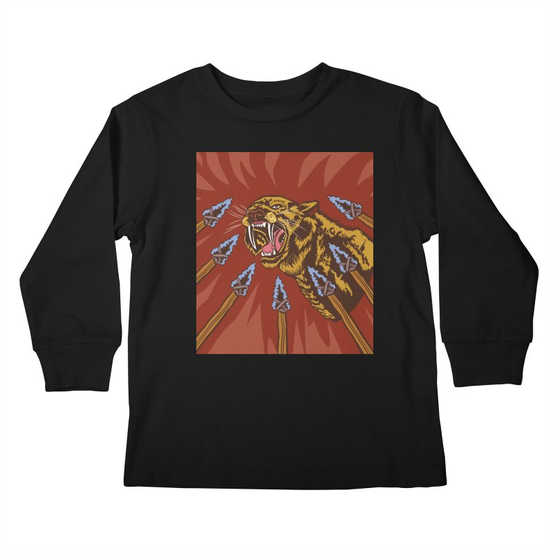 Saber-tooth Tiger Kids Longsleeve T-Shirt by funnyfuse's Artist Shop