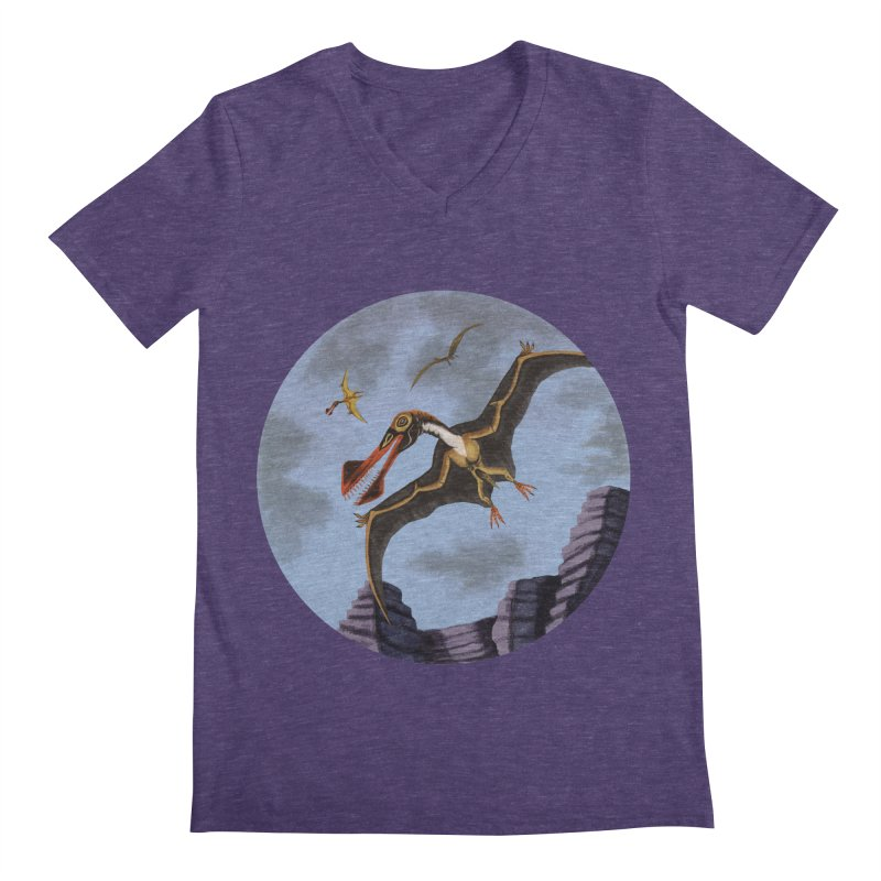 Terror in the Skies Men's V-Neck by funnyfuse's Artist Shop