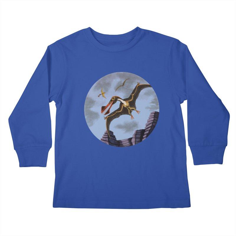 Terror in the Skies Kids Longsleeve T-Shirt by funnyfuse's Artist Shop